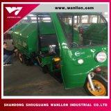 Corpi dell'autocarro con cassone ribaltabile di colore verde per la strada pulita