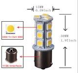 Luzes do diodo emissor de luz do carro da microplaqueta 18SMD do branco 5050