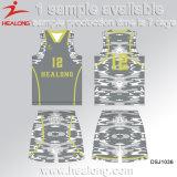 Баскетбол Джерси сублимации одежды конструкции шипучки Healong для сбывания