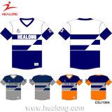 Healong passte Mann-Baseball kundenspezifische Entwurfjerseys-Hemden an