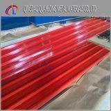 Tôle d'acier ondulée enduite d'une première couche de peinture par PPGI de Dx51d Z120 pour la construction de toiture