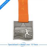 Medaglia mezza di maratona dello smalto in lega di zinco con la sagola