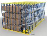 Movimentação industrial do metal do armazenamento do armazém através da cremalheira