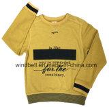 Nuova maglietta felpata del pullover del cotone del ringrosso di disegno 2017 per il ragazzo con la stampa della moltitudine