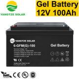 12V Batterij van het Gel van de 100ah de Diepe Cyclus Zonne voor Omschakelaar