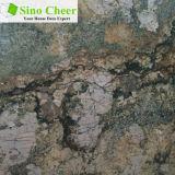 Сляб дождевого леса зеленый мраморный, конструкция оазиса пустыни для украшения гостиницы