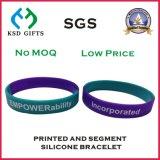 Wristband segmentato personalizzato del silicone di prezzi di fabbrica per la promozione