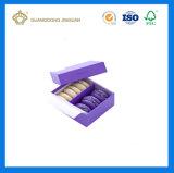 Caja de embalaje de papel para Macaron postre con empate (con el papel divider)