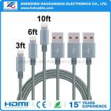 Nylon Braided зарядный кабель данным по USB 2.1A для iPhone