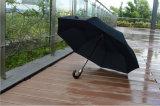 آليّة خشبيّة خطّاف مقبض مصغّرة 3 يطوي مظلة ([جف-بّ301])