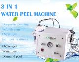 3 em 1 máquina de Microdermabrasion do oxigênio da casca da água
