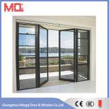 Porte en aluminium extérieure avec le guichet d'ouverture