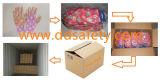Ddsafety 2017 rosafarbenes Nylonblumen-Entwurfs-Shell-transparente Nitril-Beschichtung-Handschuhe