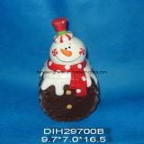 Vaso Pupazzo di neve-A forma di di ceramica dipinto a mano dello zucchero
