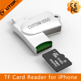 De Lezer van de Kaart van Microsd van de Wartel van het metaal voor iPhone iPad iPod (yt-R005)