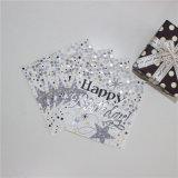 Nuovo disegno del tovagliolo di carta sventante dell'oro per natale & il compleanno