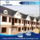 La estructura de acero de 2 plantas prefabricados bungalow casa de familia