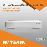 Mini taille 4CH 1080n Ahd Tvi Cvi Cvbs IP hybride H 264 DVR autonome (6704H80H)