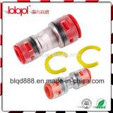 Grampos de travamento no micro conetor de duto, conetor de Microduct, conetor reto ótico da fibra
