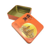 жестяная коробка металла оптовой продажи коробки олова 21X21X6.5cm квадратная