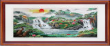 Пышный восход солнца в китайской красивейшей картине стены земли
