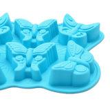 La FDA délivrent un certificat le moulage matériel de silicones de catégorie comestible, 6PCS pour le moulage différent de /Chocolate de moulage de pudding de silicones de modèle du guindineau trois