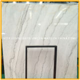 Верхняя полированный самых дешевых строительных материалов Гуанси белого мрамора слоев REST, Китай белого мрамора