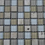 Mattonelle di mosaico di vetro blu di vendita calda per la piscina