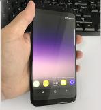 Le nouveau produit 5.5inch Smartphone S8 de Goophone S8 + S8 plus l'étalage réel de l'androïde 6.0 HD du faisceau 3G WCDMA de quarte de carte d'identification de contact sec déverrouillent Clonephone