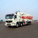 유압 60cbm Sinotruk 트럭에 의하여 거치되는 구체 펌프 트럭