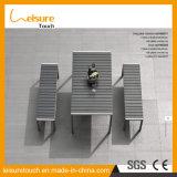 Frame in de Poeder Met een laag bedekte OpenluchtEettafel Bistro van het Meubilair van het Restaurant van de Lijst van de Vrije tijd van de Tuin van het Aluminium