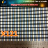 現金商品、ポリエステルヤーンの衣服(X121-123)のための染められた小切手ファブリック