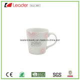 Tasse en céramique blanche personnalisée avec poignée en forme de coeur pour cadeau promotionnel