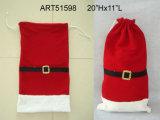 """18""""H Santa y Snowman Bolsa Botella de vino de regalo Decoración de Navidad-3asst"""