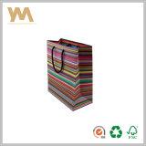 Bande colorée Sac en Papier de cadeau pour le shopping