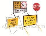 O balanço ao ar livre portátil da segurança do trabalho de estrada do Worksite assina o frame, carrinho do sinal do balanço, sinais do carrinho do balanço