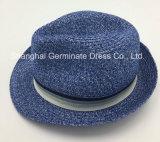 Sombrero de paja de papel de la manera con la venda gruesa de la corona de la cinta del aumento (Sh040)