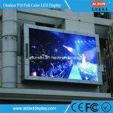 Pantalla de visualización fija al aire libre de LED de P10mm SMD con la FCC