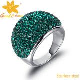 Цвет Excr002dgn зеленый облицовывает кольца Amethyst перста способа