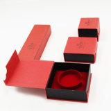 Caja de embalaje de la cartulina de la impresión de la insignia para la joyería (J63-E1)