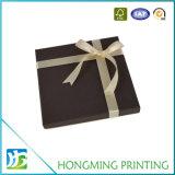 Caixas de presente de seda luxuosas do papel da fita para o chocolate