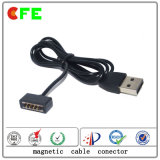 Conector magnético de carregamento USB Conector de cabo magnético 4pin
