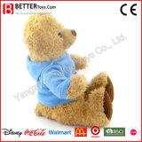 박제 동물 Hoodie에 있는 연약한 장난감 곰 견면 벨벳 장난감