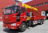 Le camion lourd de FAW 6X4 a monté avec 8 tonnes de prix télescopiques de grue