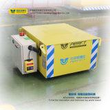 Carro plano eléctrico resistente de la transferencia de la manipulación de materiales en los carriles