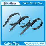 Auto 304 che chiude i legami a chiave elettrici durevoli personalizzati della chiusura lampo con le fascette ferma-cavo rivestite dell'acciaio inossidabile del PVC