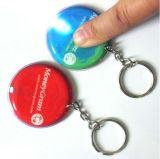 Kundenspezifischer LED-Taschenlampen-Schlüsselring für förderndes Geschenk