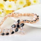 حجارة أسود كونيّة نمو نحاسة سوار مجوهرات بالجملة لأنّ بنات