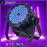 Iluminación de escenarios 54X3W 3in1 RGB LED PAR RESISTENTE AL AGUA PUEDE