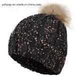 니트 모자 POM POM에 의하여 뜨개질을 하는 모자 베레모 모자